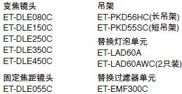 松下Panasonic 单芯片DLP投影机 PT-FDX90配件