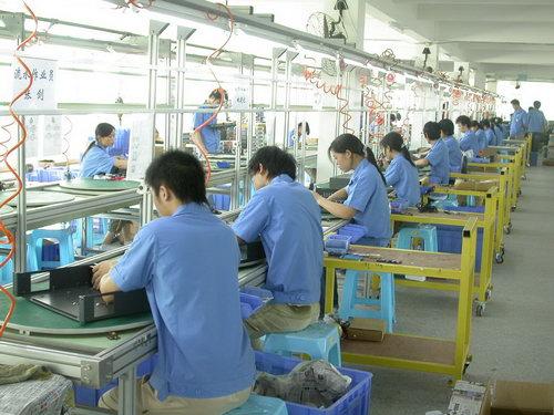 迪士普电子产品生产线之一