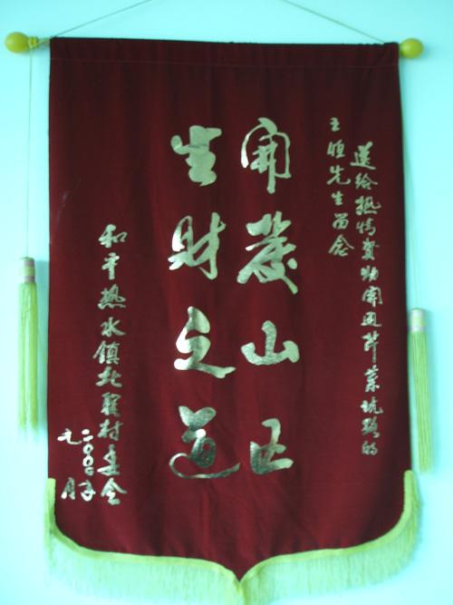 村委会授锦旗
