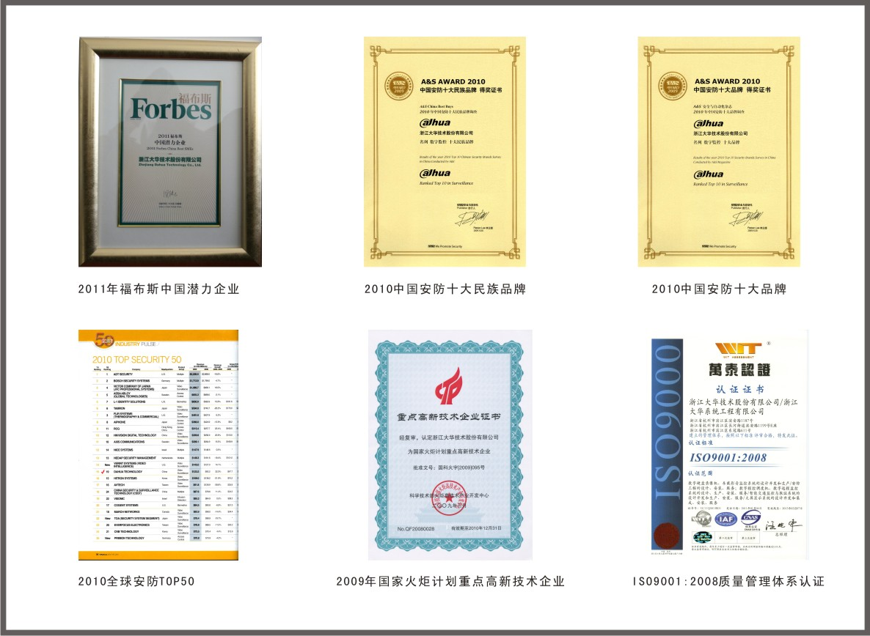大華 - 資質榮譽