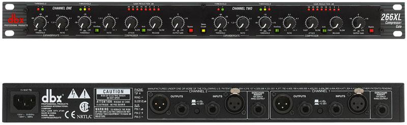 DBX 双通道压缩器|噪声门 DBX 266XL产品照片