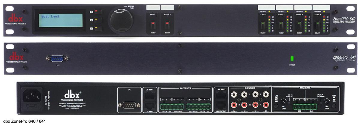 DBX 数字区域控制器 DBX  ZonePro 640/641产品照片