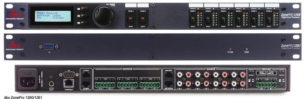 DBX 数字区域控制器 DBX ZonePro 1230|1261产品照片