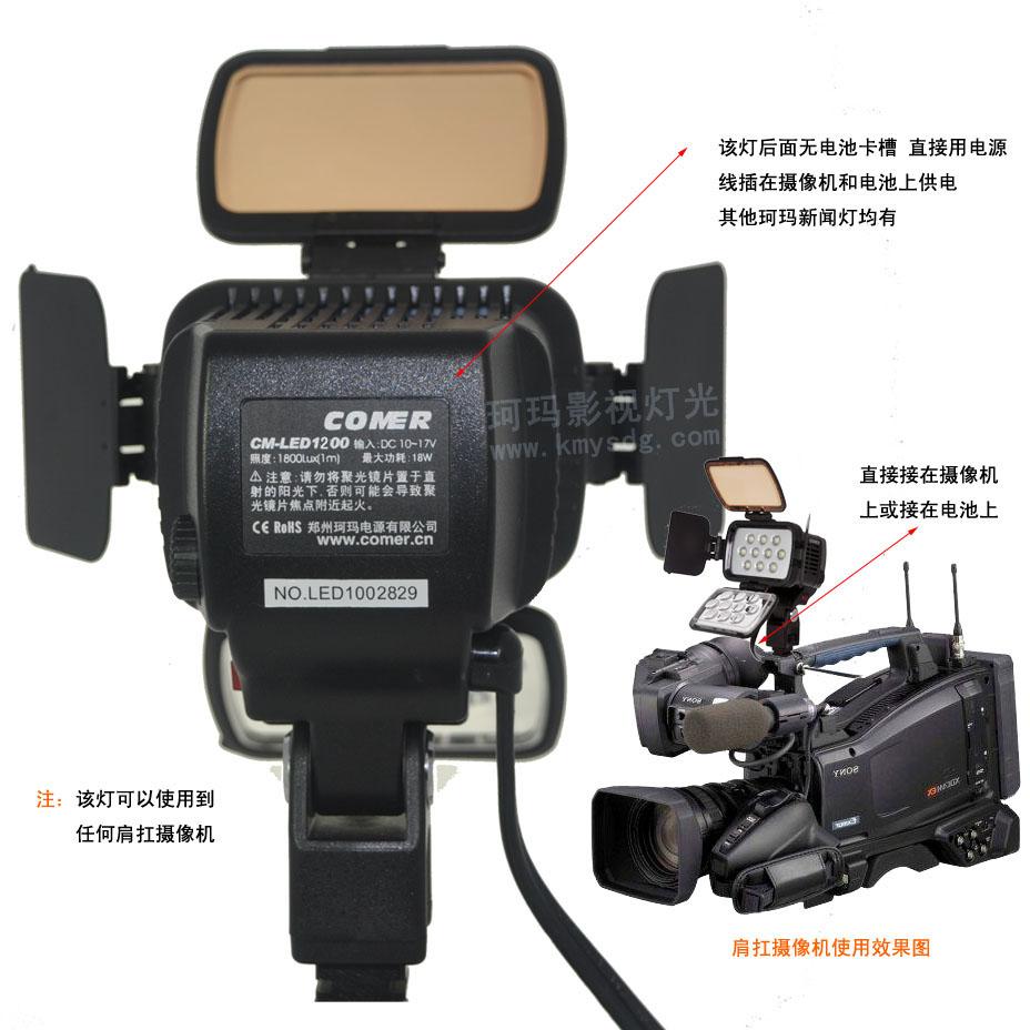 LED新闻灯CM-LED1200背面