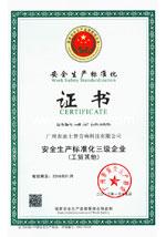 安全生产标准化证书2013-2016