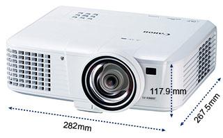 佳能Canon  便携型投影机 LV-S300产品尺寸