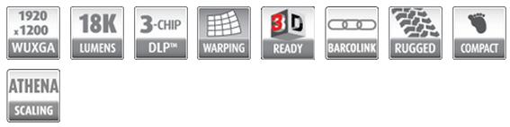 巴可BARCO 三芯片 DLP 投影机 HDX-W18 性能特征