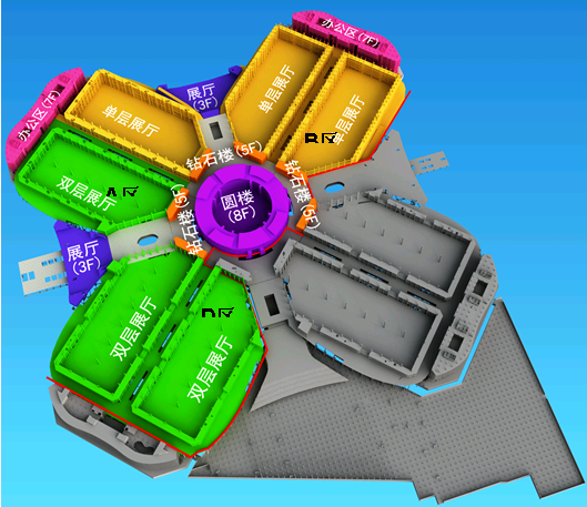 圖二 上海中博會會展綜合體規劃圖