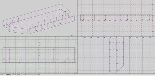 圖六 中博會會展綜合體EASE軟件三維聲學模型圖