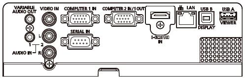 松下Panasonic 普及型商教投影机 PT-X330C接口连接