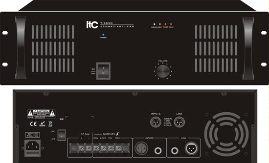 愛遞思ITC 純后級廣播擴聲機 T-6350/T-6500/T-6650產品圖片