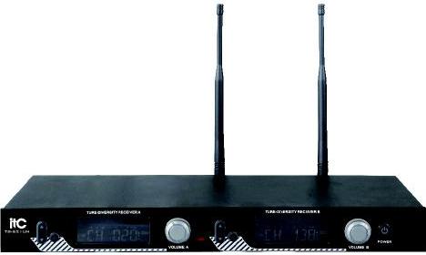 爱递思ITC UHF段液晶显示可调频真分集无线话筒 T-521UH产品图片