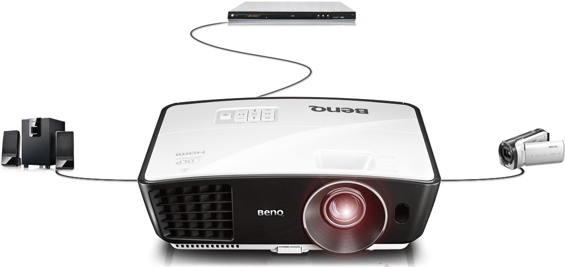 明基BenQ  高清家用投影机 W750系统连接
