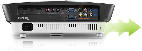 明基BenQ  高清家用投影机 W750接口连接
