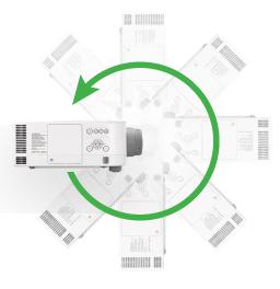 NEC 高端工程液晶投影机 PA600X+安装方式