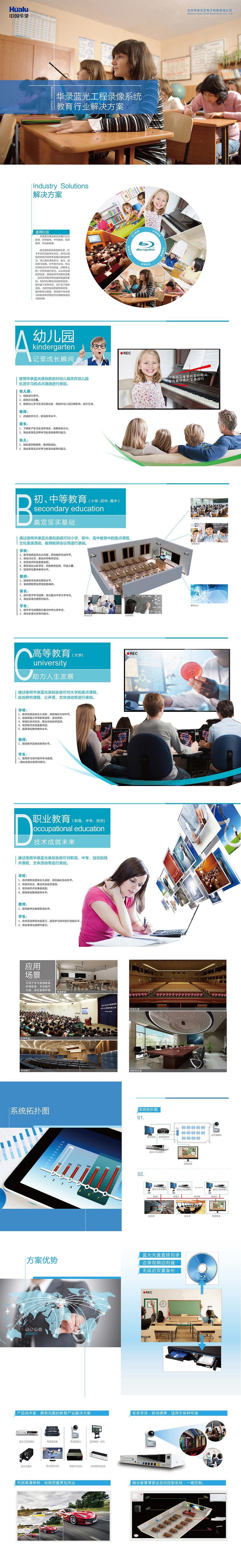 华录蓝光工程录像系统教育行业整体解决方案