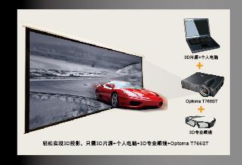 奥图码Optoma 短焦投影机 T762ST立体3D投影显示