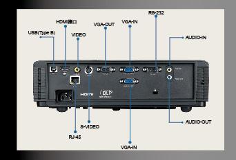奥图码Optoma 短焦投影机 T762ST接口连接