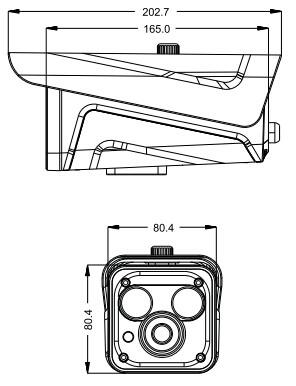 同為TVT  網絡攝像機  TD-9432T 安裝尺寸