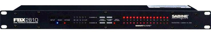 赛宾SABINE  双通道12段自动反馈抑制器  FBX2810产品照片