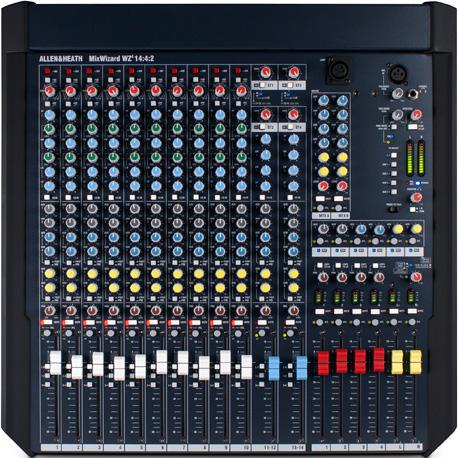 艾伦赫赛Allen&Heath  高品质紧凑型模拟调音台  MixWizard WZ4 14∶4∶2 产品照片