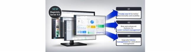 通过视觉和技术革新的 MagicInfo 4.0 有效地管理显示和内容