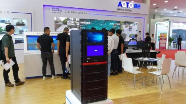 亮相深圳安博會 奧拓Mini LED深入安防市場