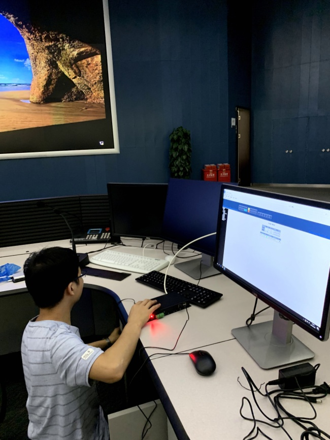 廣州地鐵調度中心分布式坐席協作KVM應用方案調試現場