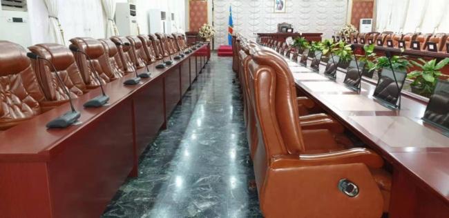 VISSONIC议朗无纸化会议系统助力刚果总统府会议厅图片
