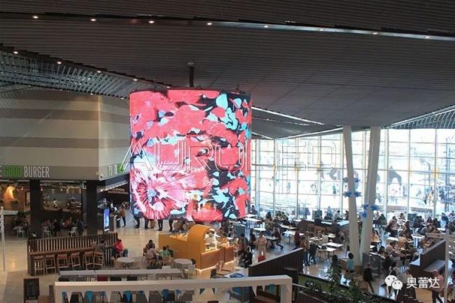 奥蕾达LED透明屏闪耀Lagoh购物中心 奥蕾达图片