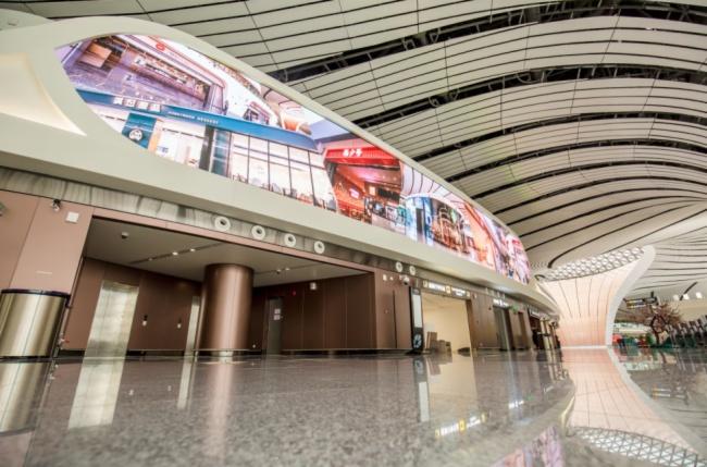 """北京大兴国际机场今日首航,""""联建大屏""""惊艳全球最大空港!"""