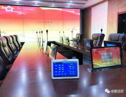 迅控SVS為某司法局打造指揮中心(雙屏升降器)
