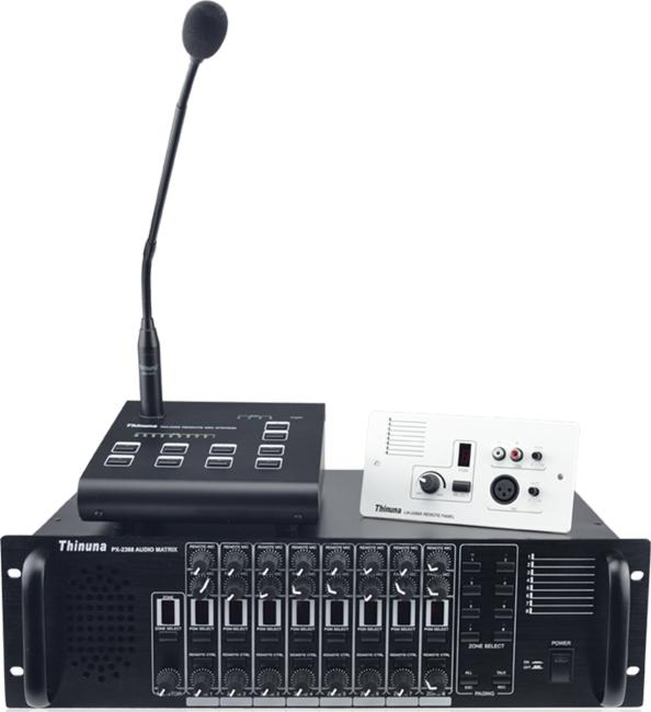 Thinuna PX-2000 多功能8×8音頻矩陣廣播系統