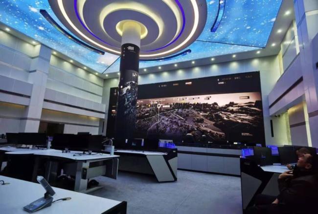 鑫彩晨柔性LED顯示屏入駐貴陽公安局指揮中心