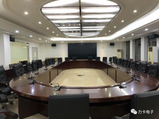 廣東省某黨委會議室選用Relacart力卡專業有線會議系統