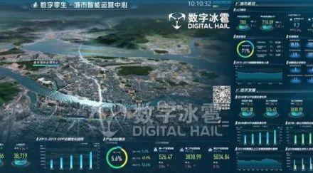 数字冰雹 数字孪生城市智能运营中心(IOC)可视化决策系统