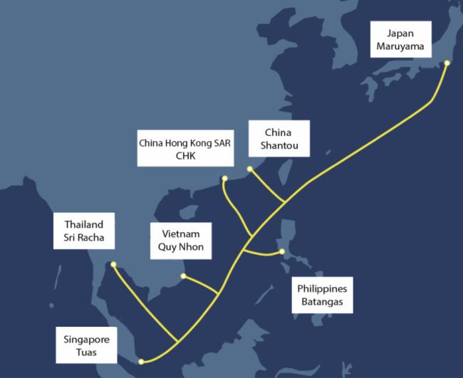 """NEC签订""""亚洲直达海缆""""供货合同 新海底光缆系统将连接亚洲地区,全长9,400km"""