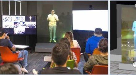 5G智联未来项目落地莆田城厢区教育局全息远程教育