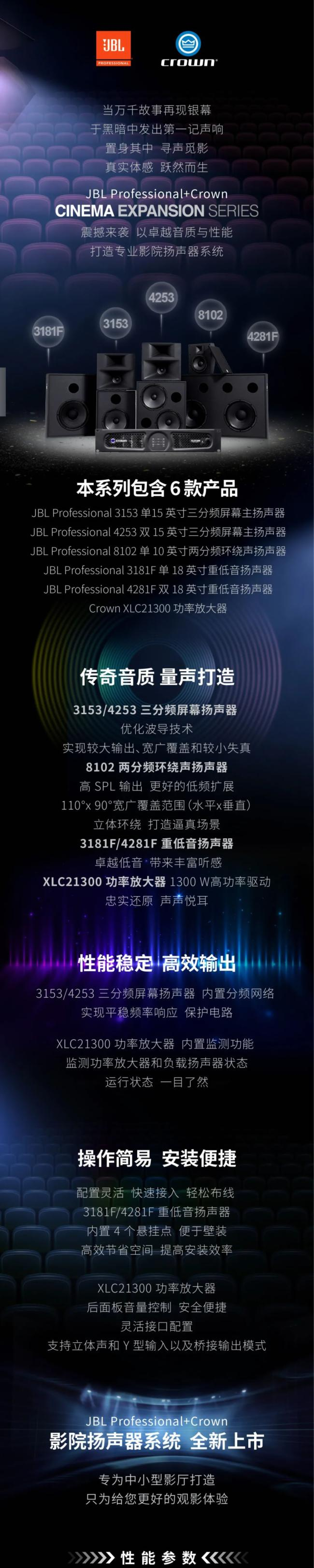 哈曼|JBL Professional+Crown Cinema Expansion 系列:寻声觅影 扣动人心