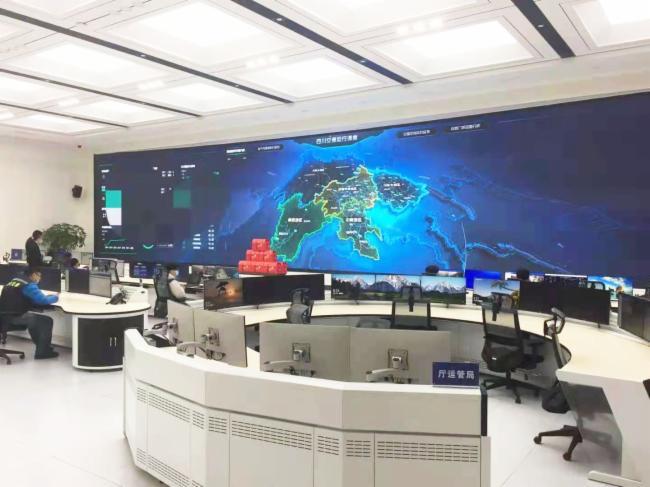 大屏幕光纤拼控终端助四川省建设现代交通运输综合指挥中心