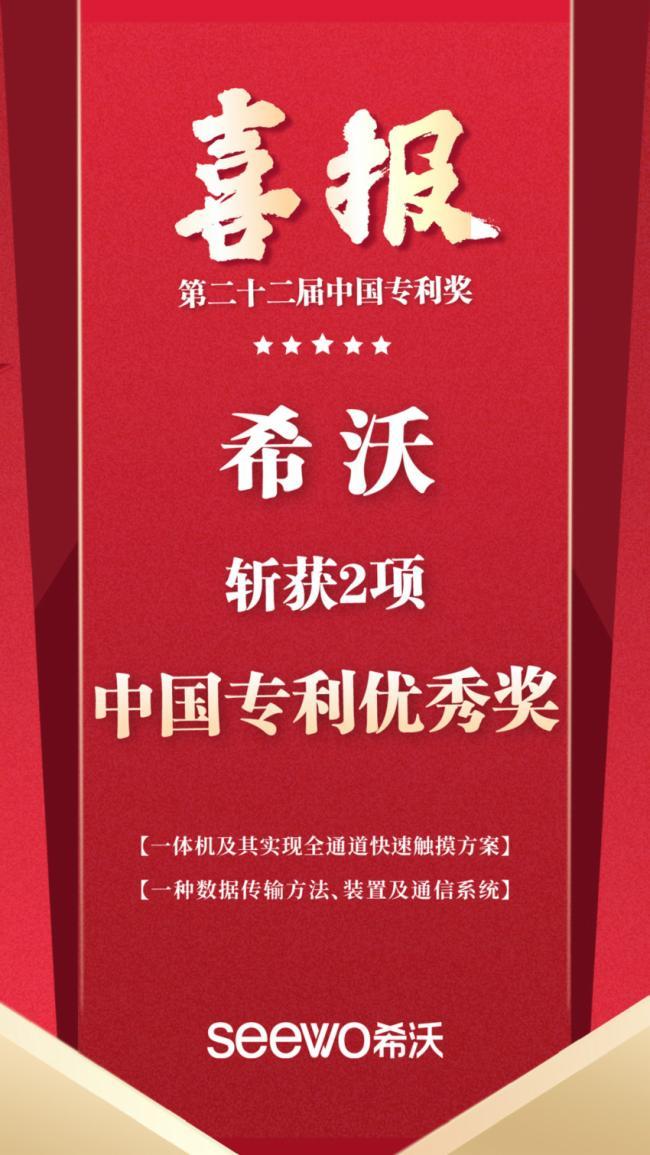 年度重磅!希沃一舉斬獲2項中國專利優秀獎