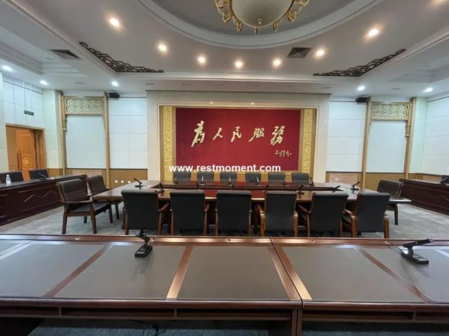 雷蒙電子入駐青海省某黨委會議室