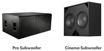 影院低频扬声器与专业音频低频扬声器的区别你知道吗?