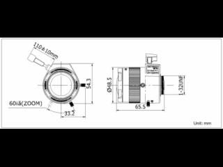 TV2712D-MPIR-自动光圈手动变焦百万像素红外镜头