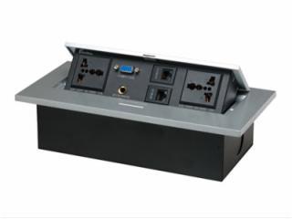 JN-201-b-鋅合金面板彈起式桌面插座