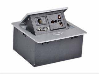 JN-203-b-鋅合金桌面隱藏式接線盒