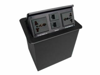 JN-502-a-鋁合金拉絲面板氣撐式桌面隱藏信息盒