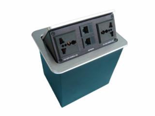 JN-502-b-鋁拉絲桌面多功能插座