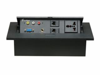 JN-201-e-鋅合金面板多功能桌面插座