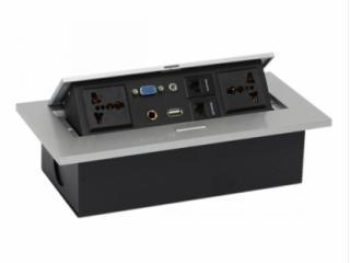JN-201-d-锌合金面板桌面多功能信息盒